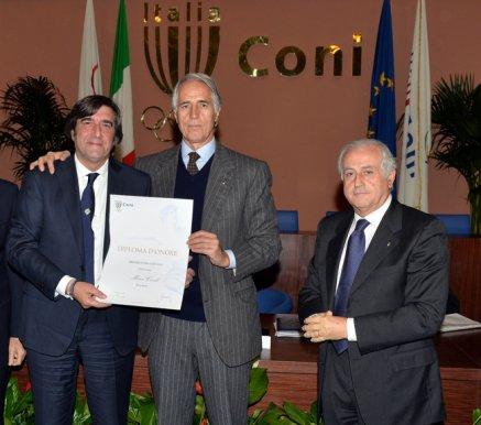 A Marco Civoli di Rai Sport il Premio Televisione (Foto Mezzelani-GMT)