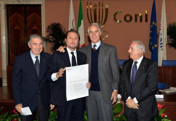 Giorgio Porra di Sky Sport vincitore del Premio Desk-Televisione (Foto Mezzelani-GMT)