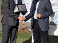 Marco Ponticiello, Area Manager Centro Italia MSC Crociere, premiato da Luigi Ferrajolo, presidente Ussi