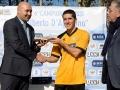Ponticiello premia Marco De Sisti come miglior giocatore della finale