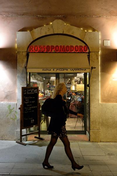Il ristorante Rossopomodoro di Largo Argentina a Roma