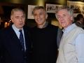 Luigi Ferrajolo e Andrea Santoni, Presidente e Segretario Generale dell\'Ussi Nazionale. Al centro Paolo Morra, manager di Ham Holy Burger (Sebeto spa)